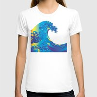 hokusai T-shirts featuring Hokusai Rainbow_B by FACTORIE