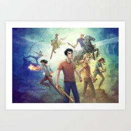 Percy Jackson - Prophecy of Seven Art Print