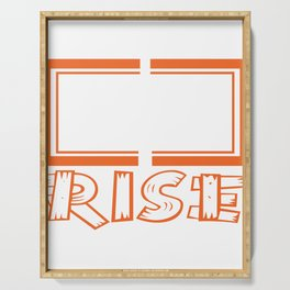 A simple typography But Still I Rise Psitive Jesus Belief Believer Attitude Progress God Christ Serving Tray