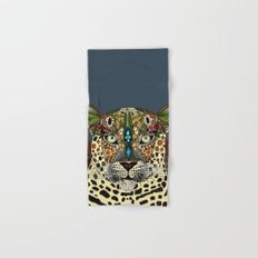 leopard queen blue Hand & Bath Towel