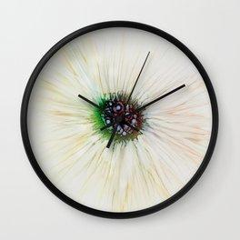 Blue-Green Bulb Abstract Flower Wall Clock
