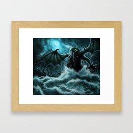 Rise of Cthulhu Framed Art Print