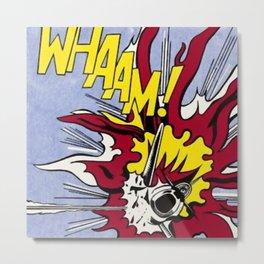 According to Roy Lichtenstein. Whaam! 1963 Diptych Metal Print