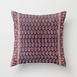 Afshar Persian Kerman  Antique Rug Throw Pillow
