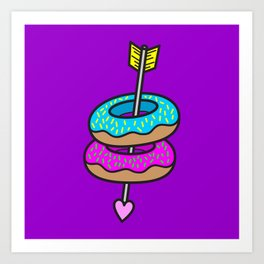 I Love You More Than I Love Donuts Art Print