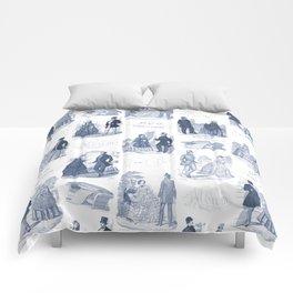 Biedermeier Blue Romance Comforters