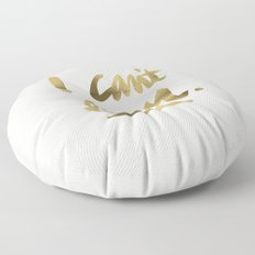 I Can't Even – Gold Ink Floor Pillow