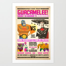 Guacamelee! Fight Poster Art Print