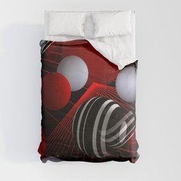 crazy lines and balls -7- Comforters