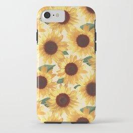 Happy Yellow Sunflowers iPhone Case