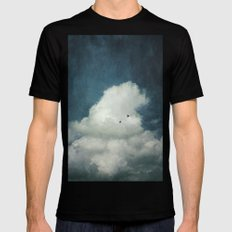 the Cloud Mens Fitted Tee MEDIUM Black
