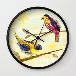 Colorful Birds Wall Clock