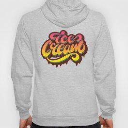 Ice cream lettering design Hoody