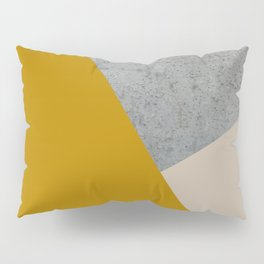 MUSTARD NUDE GRAY GEOMETRIC COLOR BLOCK Pillow Sham