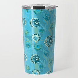 Abalone Shells Dream of Blue Travel Mug