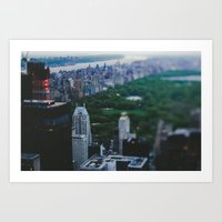 central park Art Prints featuring Central Park by Chelsea Victoria