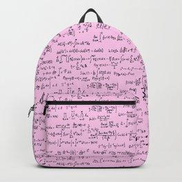 Math Equations // Light Pink Backpack