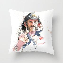 Lemmy Throw Pillow
