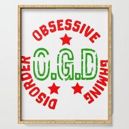 Best Trending Gaming Tshirt Design Obsessive Gaming Disorder Serving Tray
