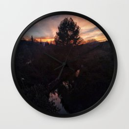 Atardecer Wall Clock