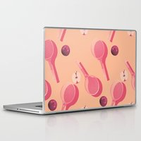 tennis Laptop & iPad Skins featuring TENNIS by Rhianna Ellington
