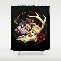 Deer Skull Still Life Shower Curtain