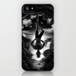 XII. The Hangman Tarot Card Illustration iPhone Case