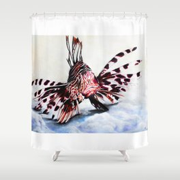 Lion fish and his captain. Shower Curtain