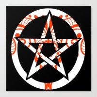 pentagram Canvas Prints featuring Pentagram by Littlefox