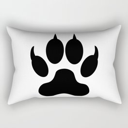 Cat Footprint Silhouette Rectangular Pillow