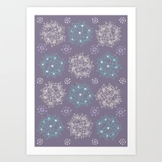 Lilac Clusters Art Print