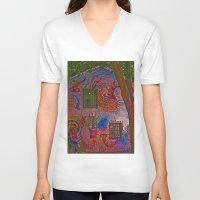 colombia V-neck T-shirts featuring MAGIC HOUSE BOGOTA COLOMBIA by Alejandra Triana Muñoz (Alejandra Sweet