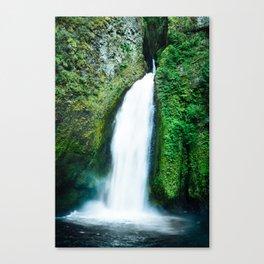 Wahclella Falls, Cascade Range, Oregon, USA Canvas Print