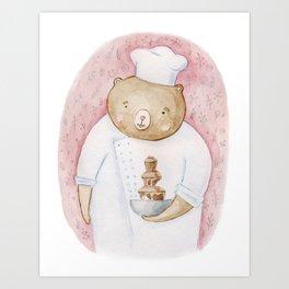 Candy bear Art Print