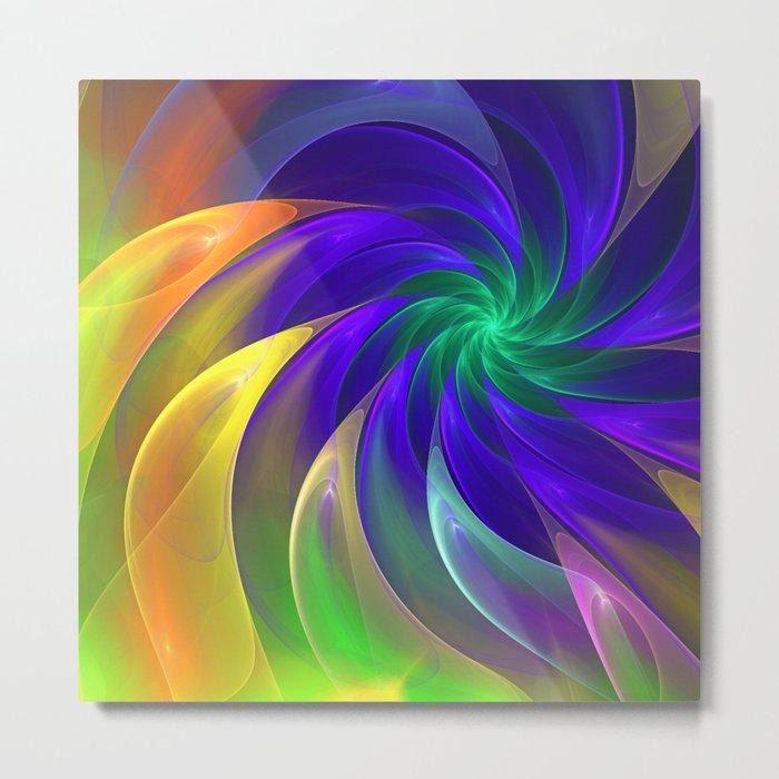 Abstract Color Swing Metal Print