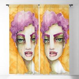 Original Watercolor Illustration by Jenny Manno Art/Elaine Blackout Curtain