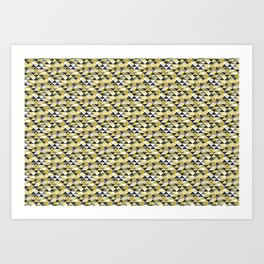 Abstract stars in a golden pattern Art Print