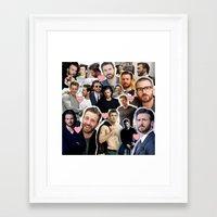 chris evans Framed Art Prints featuring Chris Evans by lastminutebinge
