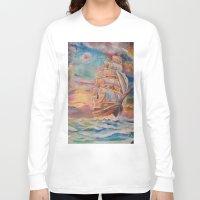 ship Long Sleeve T-shirts featuring Ship by Kali Koltz