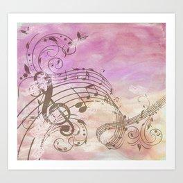 Music Notes Flutter 2 Art Print