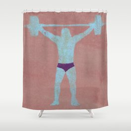 The power Shower Curtain