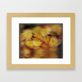 ochre in motion III  Framed Art Print