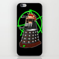 dalek iPhone & iPod Skins featuring Punk Dalek by Andrew Mark Hunter
