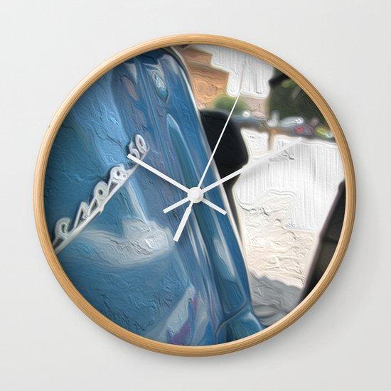 Vespa dreaming Wall Clock