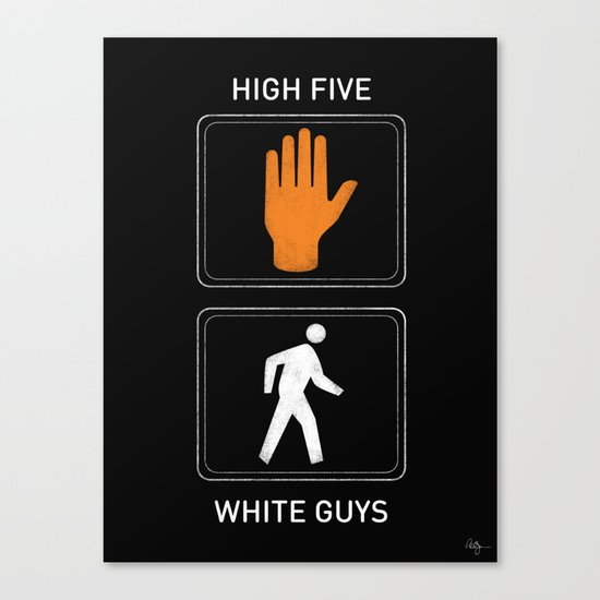 High Five White Guys Canvas Print