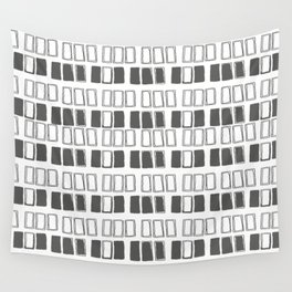Blocks White/Grey Wall Tapestry