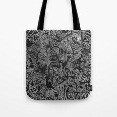 White/Black #3 Tote Bag