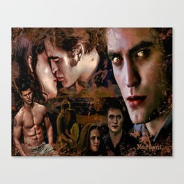 Eclipse Tribute by Martoni (Pattinson, Stewart, Lautner) Canvas Print