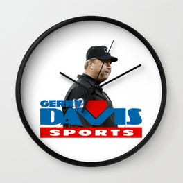 gerry davis sports Wall Clock