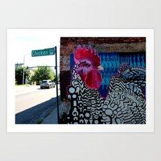 Chicken Alley Art Print
